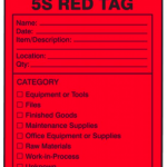 Lean red tag 5S